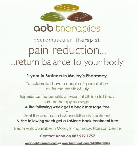 July Special Offers - Massage Treatments